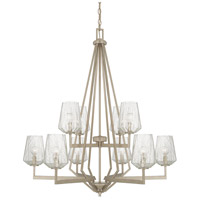 Arden 10 Light 35 inch Brushed Silver Chandelier Ceiling Light