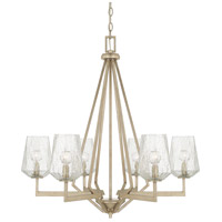 Arden 6 Light 29 inch Brushed Silver Chandelier Ceiling Light