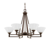 Avalon 6 Light 29 inch Russet Chandelier Ceiling Light