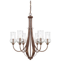Capital Lighting Rowan 6 Light Chandelier in Rustic 411661RT-322