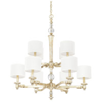 Carlyle 10 Light 34 inch Gilded Silver Chandelier Ceiling Light