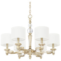Capital Lighting 411761GS-654 Carlyle 6 Light 28 inch Gilded Silver Chandelier Ceiling Light