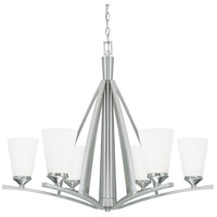 Capital Lighting 412361BN-324 Boden 6 Light 33 inch Brushed Nickel Chandelier Ceiling Light