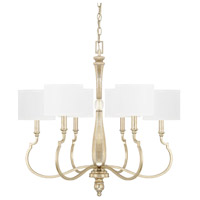 Capital Lighting 412661WG-654 Noelle 6 Light 28 inch Winter Gold Chandelier Ceiling Light
