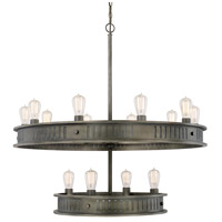 Nash 14 Light 38 inch Gunmetal Chandelier Ceiling Light