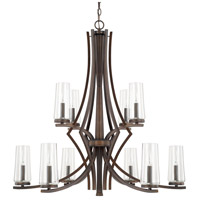 Capital Lighting Stella 10 Light Chandelier in Burnished Bronze 413501BB-326