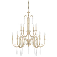 Capital Lighting Cambridge 10 Light Chandelier in Winter Gold 413601WG