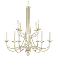 Windsor 10 Light 36 inch Soft Gold Chandelier Ceiling Light