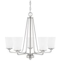 HomePlace 5 Light 26 inch Brushed Nickel Chandelier Ceiling Light