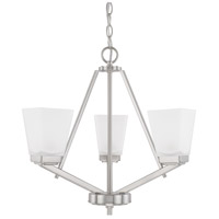 HomePlace 3 Light 20 inch Brushed Nickel Chandelier Ceiling Light