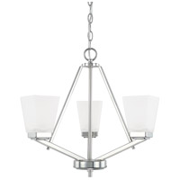 HomePlace 3 Light 20 inch Polished Nickel Chandelier Ceiling Light