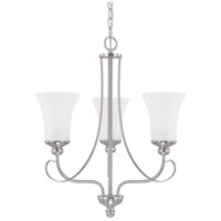HomePlace 3 Light 21 inch Brushed Nickel Chandelier Ceiling Light
