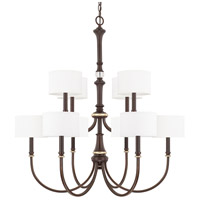 Asher 10 Light 36 inch Champagne Bronze Chandelier Ceiling Light