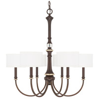 Capital Lighting 414962CZ-660 Asher 6 Light 30 inch Champagne Bronze Chandelier Ceiling Light