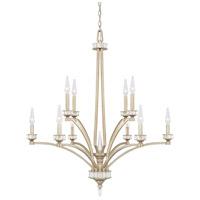 Capital Lighting 415001WG Olivia 10 Light 35 inch Winter Gold Chandelier Ceiling Light