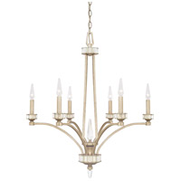 Capital Lighting 415061WG Olivia 6 Light 28 inch Winter Gold Chandelier Ceiling Light