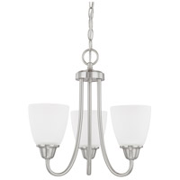 HomePlace 3 Light 15 inch Brushed Nickel Chandelier Ceiling Light