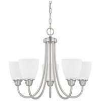 HomePlace 5 Light 21 inch Brushed Nickel Chandelier Ceiling Light