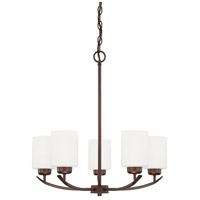 HomePlace 5 Light 23 inch Bronze Chandelier Ceiling Light