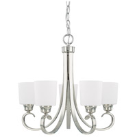 HomePlace 5 Light 24 inch Polished Nickel Chandelier Ceiling Light