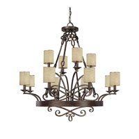 Capital Lighting Reserve 12 Light Chandelier in Rustic 4162RT-510