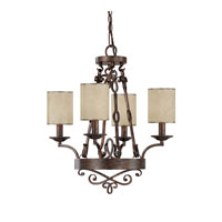 Capital Lighting Reserve 4 Light Chandelier in Rustic 4164RT-510