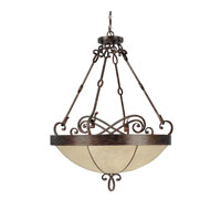 Capital Lighting Reserve 6 Light Pendant in Rustic 4165RT