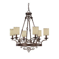 Capital Lighting Reserve 6 Light Chandelier in Rustic 4166RT-510
