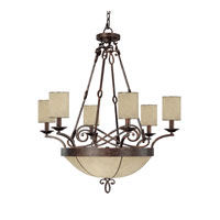 Capital Lighting Reserve 6 Light Pendant in Rustic 4167RT-510
