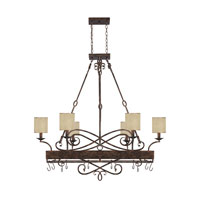 Capital Lighting Reserve 8 Light Chandelier in Rustic 4168RT-497