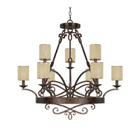 Capital Lighting Reserve 9 Light Chandelier in Rustic 4169RT-510