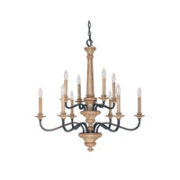 Capital Lighting Dover 10 Light Chandelier in Tawny 4170TW