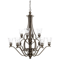 Sinclaire 10 Light 40 inch Renaissance Brown Chandelier Ceiling Light