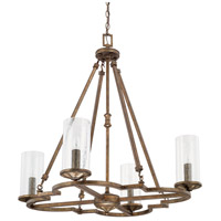 Avanti 4 Light 32 inch Rustic Chandelier Ceiling Light