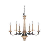 Capital Lighting Dover 6 Light Chandelier in Tawny 4176TW