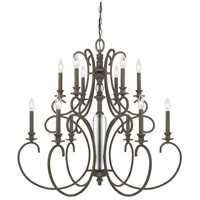 Capital Lighting 417702FG Everleigh 12 Light 35 inch French Greige Chandelier Ceiling Light