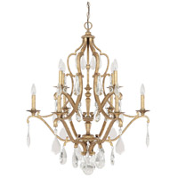 Capital Lighting Blakely 10 Light Chandelier in Antique Gold with Crystals 4180AG-CR