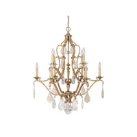 Capital Lighting Blakely 10 Light Chandelier in Antique Gold with Painted Crystals 4180AG-PC