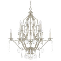 Capital Lighting 4180AS-CR Blakely 10 Light 32 inch Antique Silver Chandelier Ceiling Light in Clear