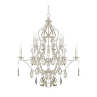Capital Lighting Blakely 10 Light Chandelier in Antique Silver with Clear and Antique Crystals 4180AS-PC