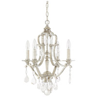 Blakely 4 Light 18 inch Antique Silver Mini Chandelier Ceiling Light in Clear