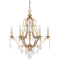 Capital Lighting Blakely 6 Light Chandelier in Antique Gold with Crystals 4186AG-CR