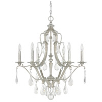 Blakely 6 Light 28 inch Antique Silver Chandelier Ceiling Light in Clear