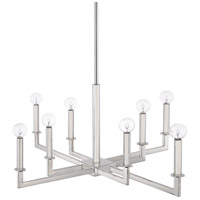 City 8 Light 29 inch Polished Nickel Chandelier Ceiling Light