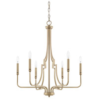 Dawson 6 Light 25 inch Aged Brass Chandelier Ceiling Light
