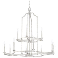 Capital Lighting 419601SP Oxford 12 Light 34 inch Silver Patina Chandelier Ceiling Light