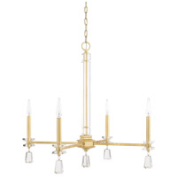 Milan 4 Light 29 inch Capital Gold Chandelier Ceiling Light