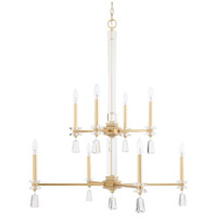 Milan 8 Light 33 inch Capital Gold Chandelier Ceiling Light