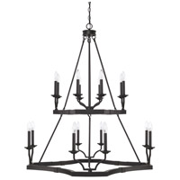 Ravenwood 16 Light 39 inch Black Iron Chandelier Ceiling Light