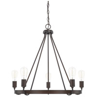 HomePlace 5 Light 27 inch Bronze Chandelier Ceiling Light
